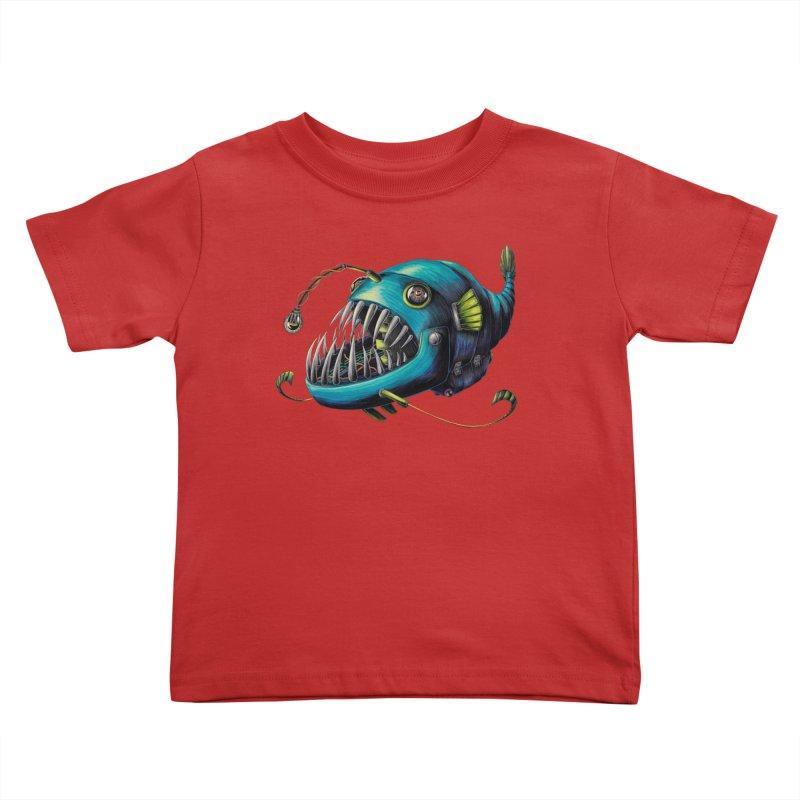 Anglerfish Kids Toddler T-Shirt by Natalie McKean