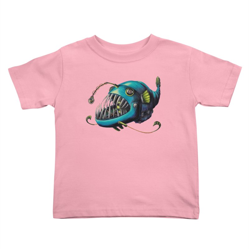 Anglerfish Kids Toddler T-Shirt by Natalie McKean