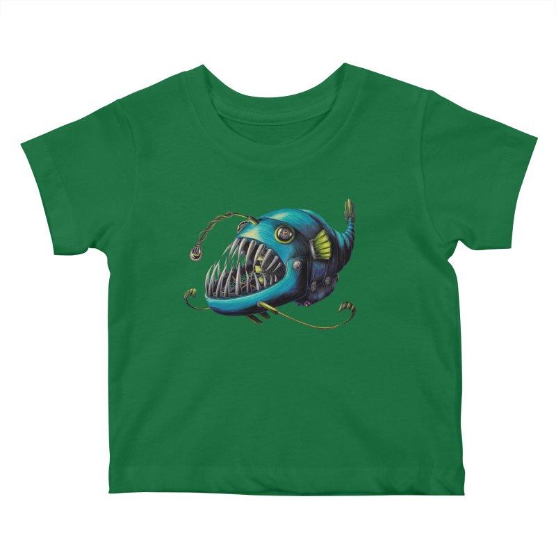 Anglerfish Kids Baby T-Shirt by Natalie McKean