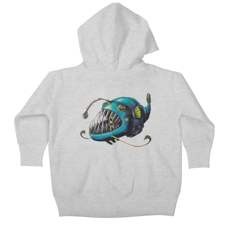 Anglerfish Kids Baby Zip-Up Hoody by Natalie McKean