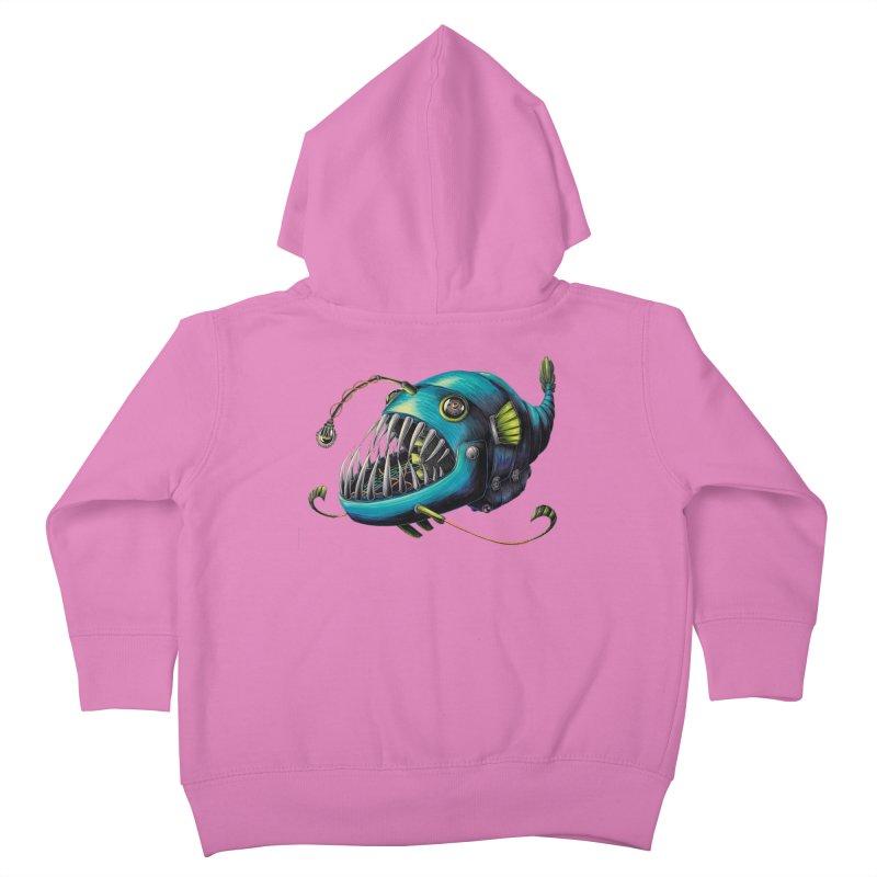 Anglerfish Kids Toddler Zip-Up Hoody by Natalie McKean