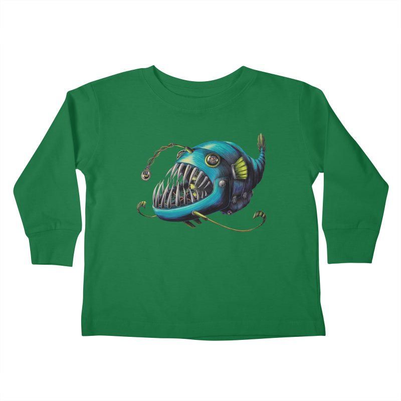 Anglerfish Kids Toddler Longsleeve T-Shirt by Natalie McKean