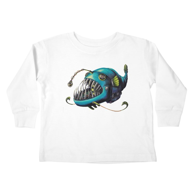 Anglerfish Kids Toddler Longsleeve T-Shirt by Natalie McKean