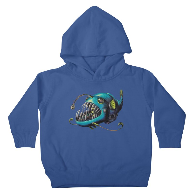 Anglerfish Kids Toddler Pullover Hoody by Natalie McKean