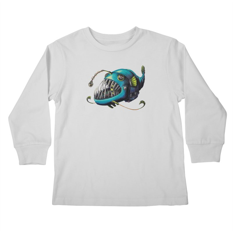 Anglerfish Kids Longsleeve T-Shirt by Natalie McKean