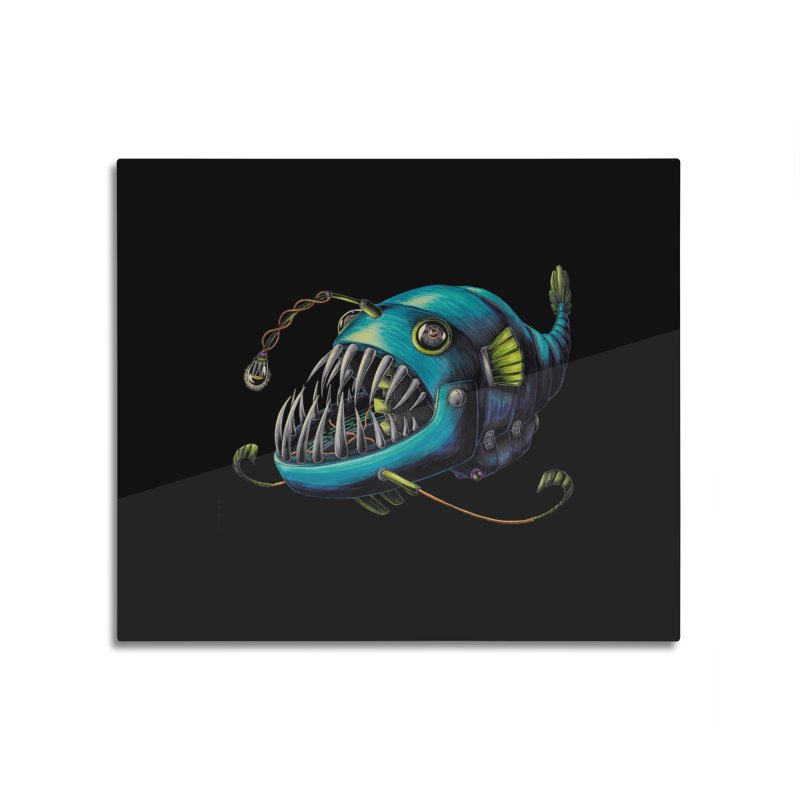Anglerfish Home Mounted Aluminum Print by Natalie McKean