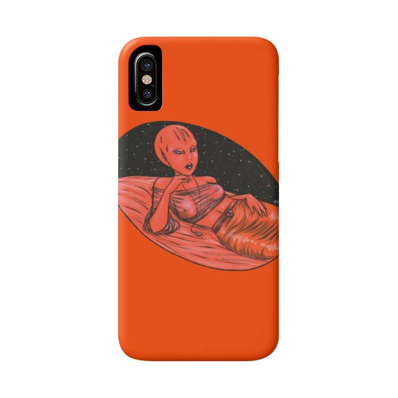 Red Alien 1 Accessories Phone Case by Natalie McKean