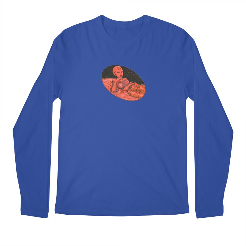 Red Alien 1 Men's Regular Longsleeve T-Shirt by Natalie McKean