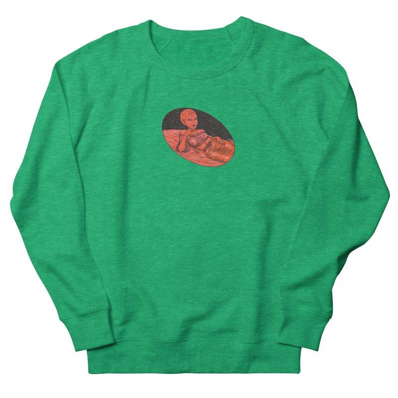 Red Alien 1 Men's French Terry Sweatshirt by Natalie McKean