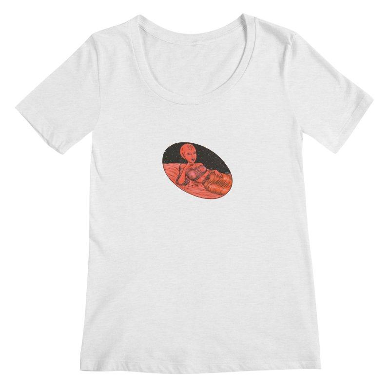 Red Alien 1 Women's Regular Scoop Neck by Natalie McKean