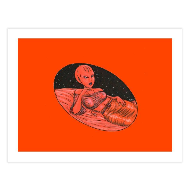 Red Alien 1 Home Fine Art Print by Natalie McKean