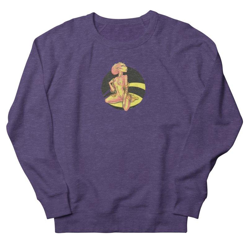 Yellow Alien 1 Men's French Terry Sweatshirt by Natalie McKean