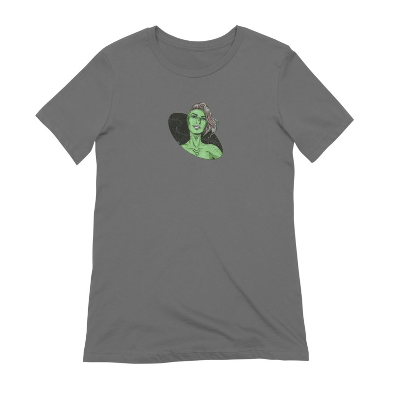 Green Alien 1 Women's T-Shirt by Natalie McKean