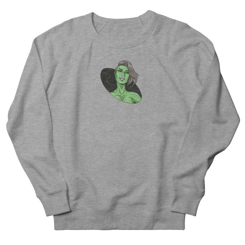 Green Alien 1 Women's French Terry Sweatshirt by Natalie McKean