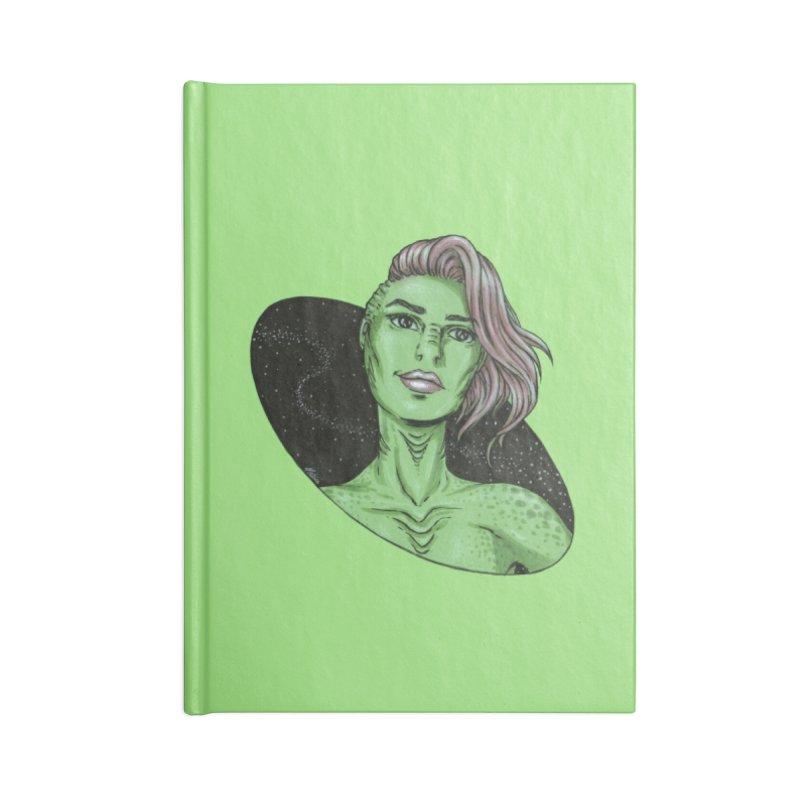 Green Alien 1 Accessories Notebook by Natalie McKean