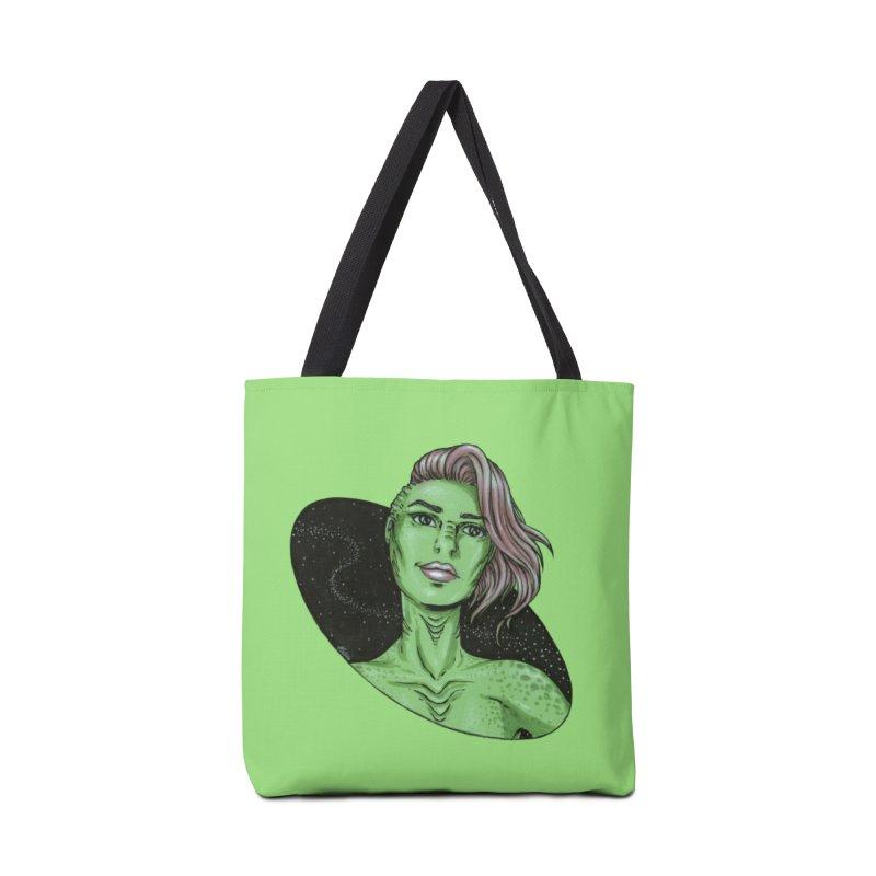 Green Alien 1 Accessories Bag by Natalie McKean