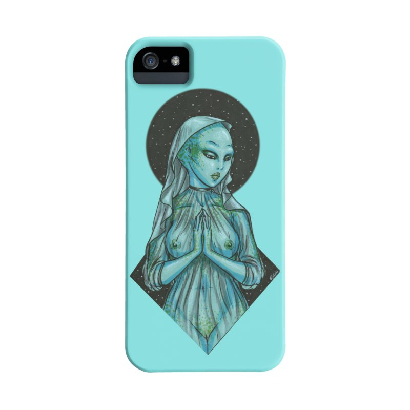 Blue Alien 1 Accessories Phone Case by Natalie McKean
