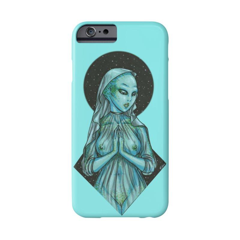 Blue Alien 1 Accessories Phone Case by Natalie McKean