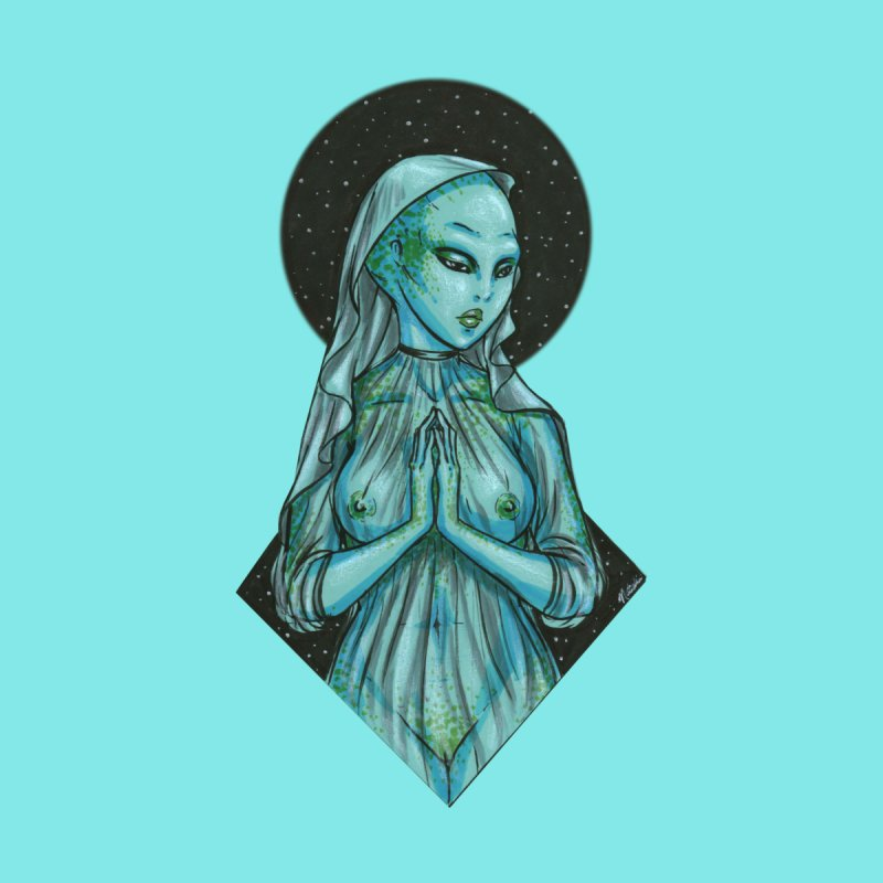 Blue Alien 1 Men's T-Shirt by Natalie McKean