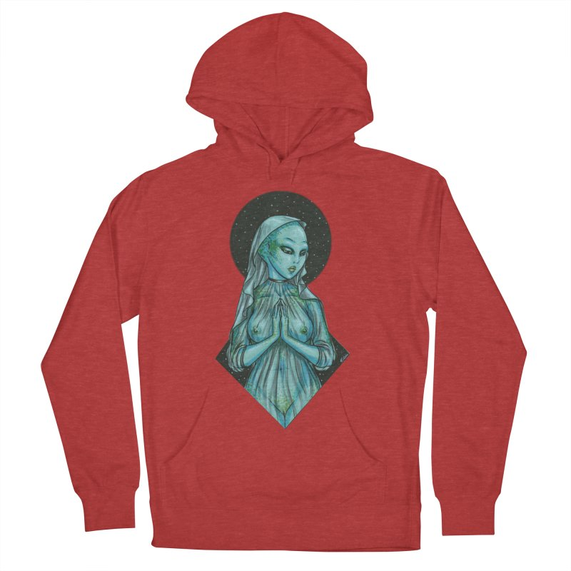Blue Alien 1 Men's French Terry Pullover Hoody by Natalie McKean