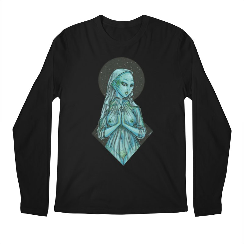 Blue Alien 1 Men's Regular Longsleeve T-Shirt by Natalie McKean