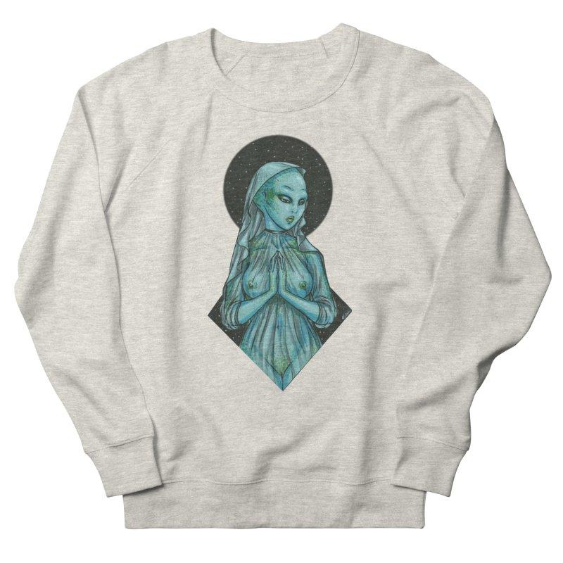 Blue Alien 1 Women's French Terry Sweatshirt by Natalie McKean