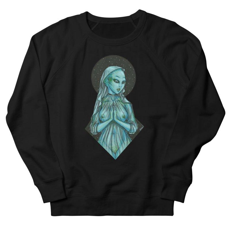 Blue Alien 1 Men's French Terry Sweatshirt by Natalie McKean
