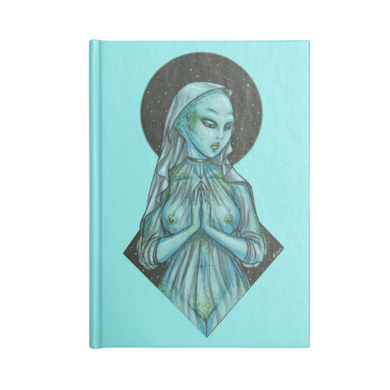 Blue Alien 1 Accessories Notebook by Natalie McKean