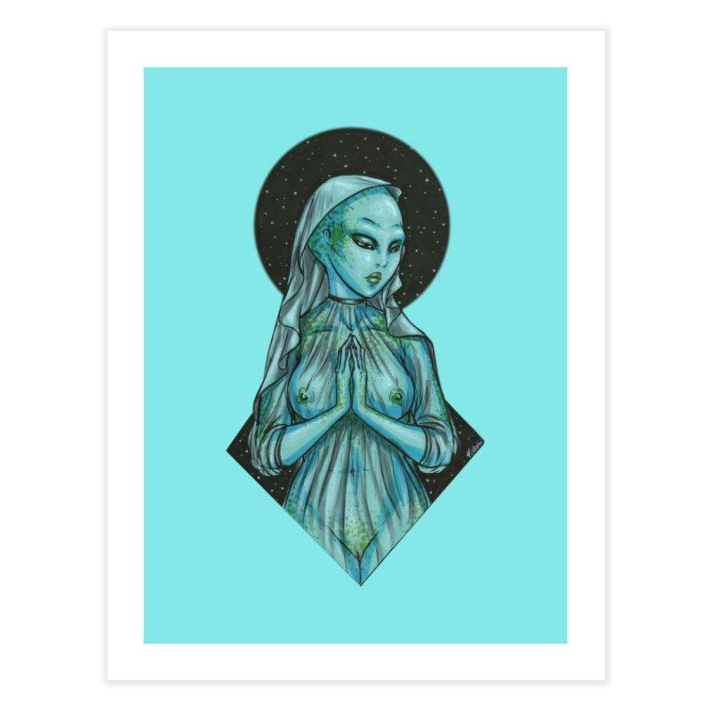 Blue Alien 1 Home Fine Art Print by Natalie McKean