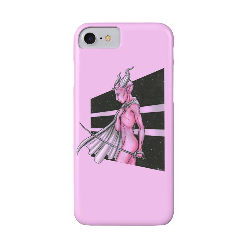Pink Alien 1 Accessories Phone Case by Natalie McKean