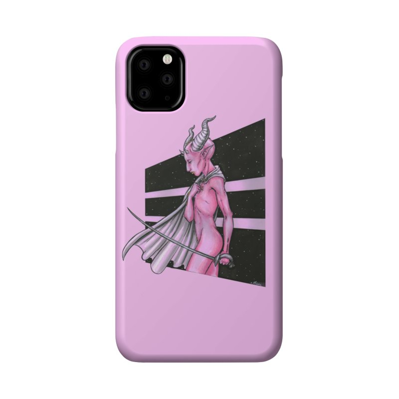 Pink Alien 1 Accessories Phone Case by Natalie McKean