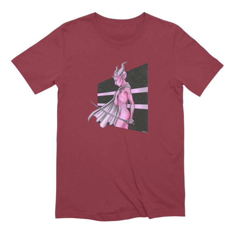 Pink Alien 1 Men's Extra Soft T-Shirt by Natalie McKean