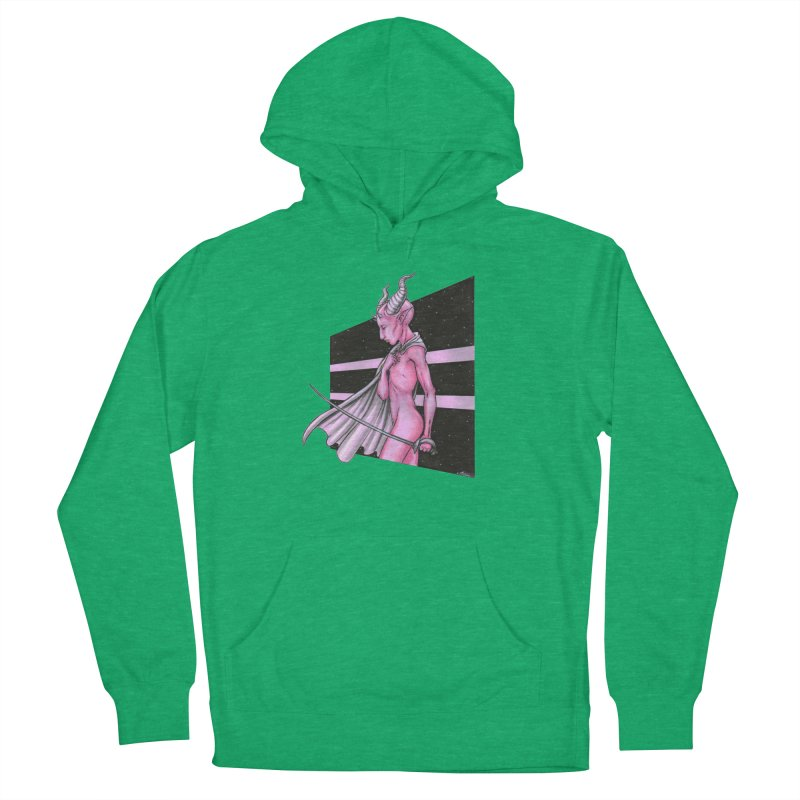 Pink Alien 1 Women's French Terry Pullover Hoody by Natalie McKean