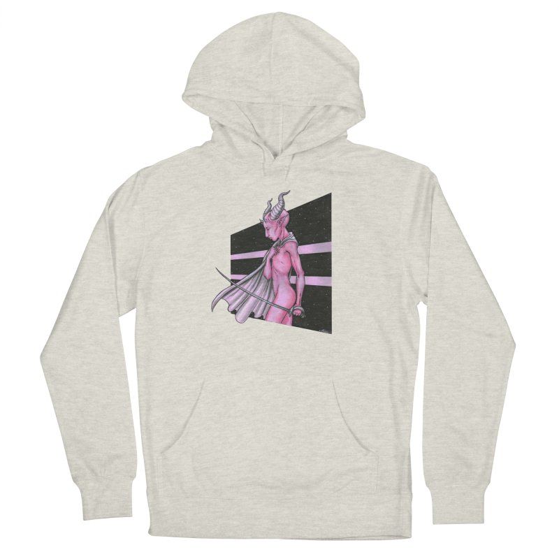 Pink Alien 1 Men's French Terry Pullover Hoody by Natalie McKean