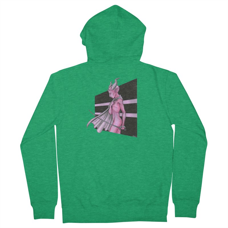 Pink Alien 1 Women's Zip-Up Hoody by Natalie McKean