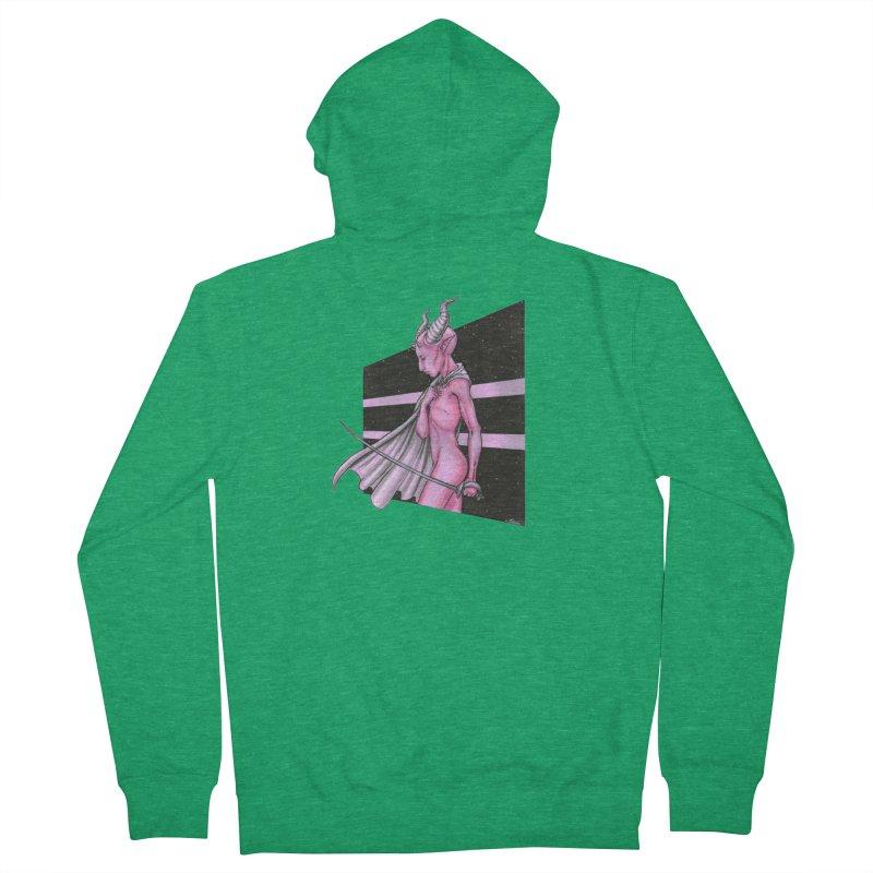 Pink Alien 1 Men's Zip-Up Hoody by Natalie McKean