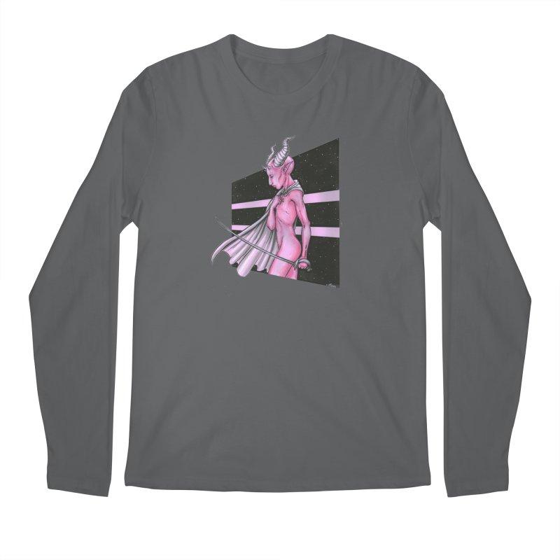 Pink Alien 1 Men's Longsleeve T-Shirt by Natalie McKean