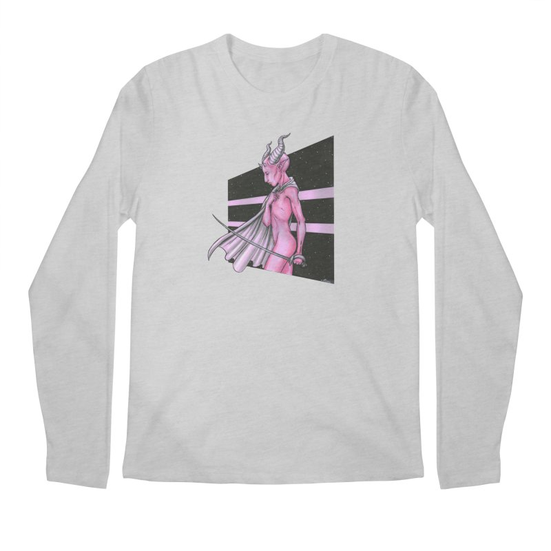 Pink Alien 1 Men's Regular Longsleeve T-Shirt by Natalie McKean