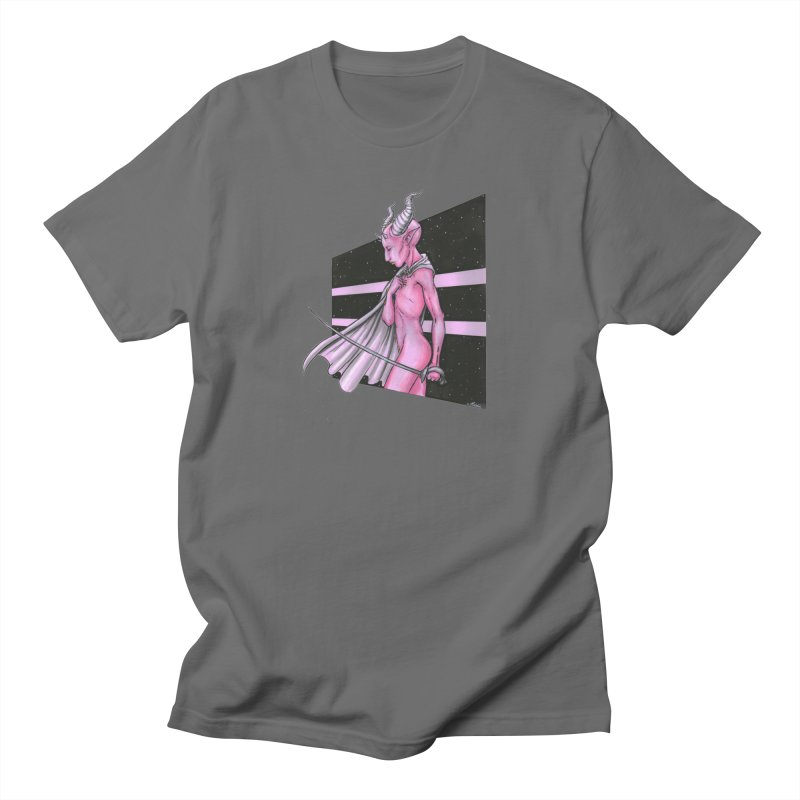 Pink Alien 1 Men's T-Shirt by Natalie McKean