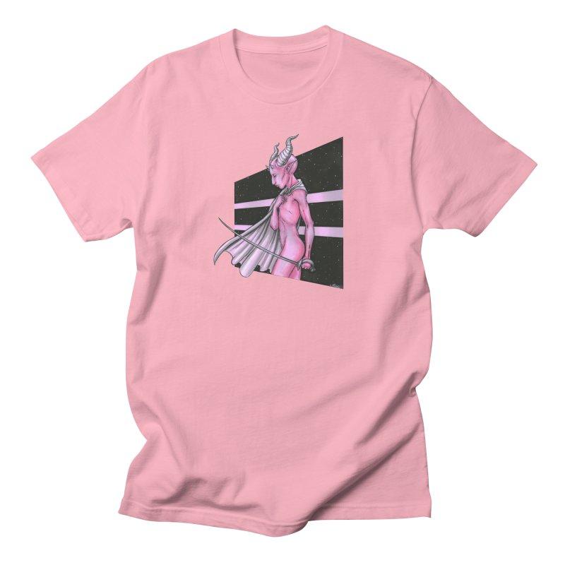 Pink Alien 1 Men's T-Shirt by Natalie McKean