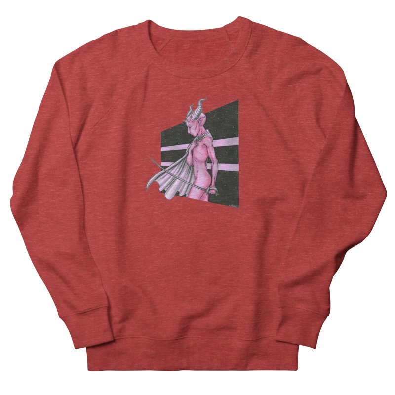 Pink Alien 1 Women's French Terry Sweatshirt by Natalie McKean