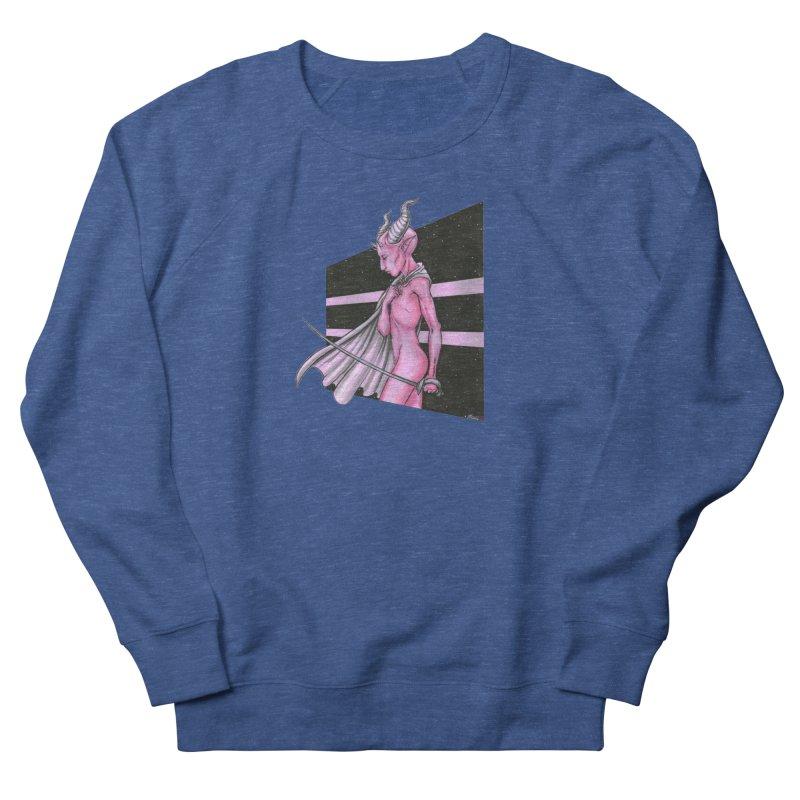 Pink Alien 1 Men's French Terry Sweatshirt by Natalie McKean
