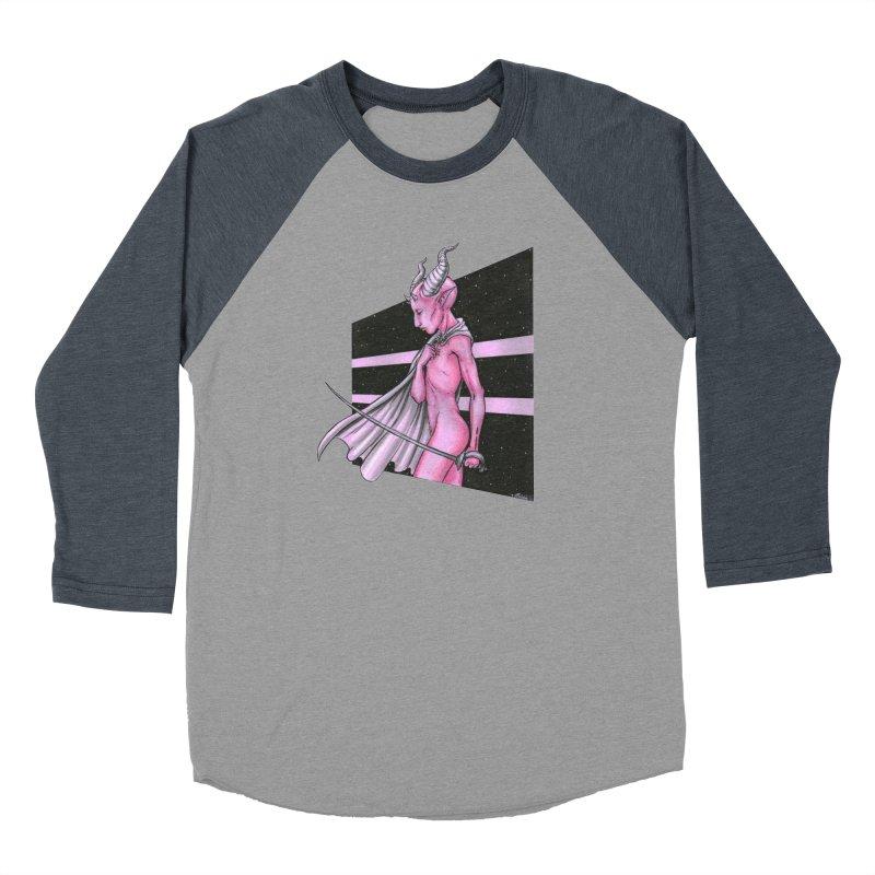Pink Alien 1 Women's Baseball Triblend Longsleeve T-Shirt by Natalie McKean