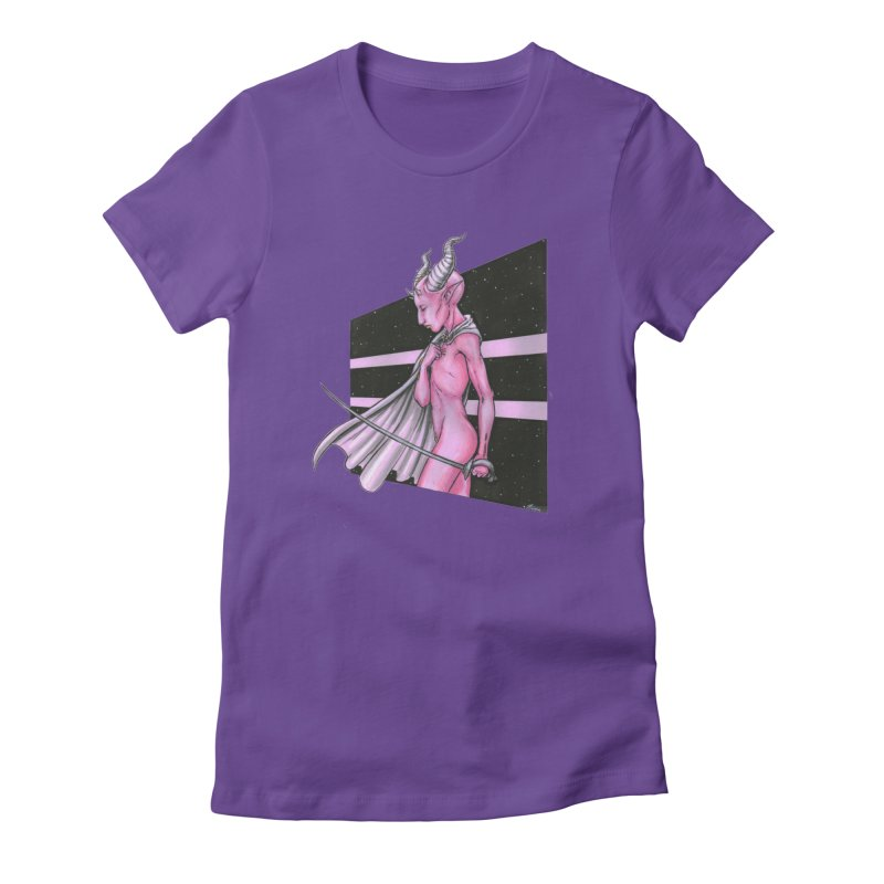 Pink Alien 1 Women's T-Shirt by Natalie McKean