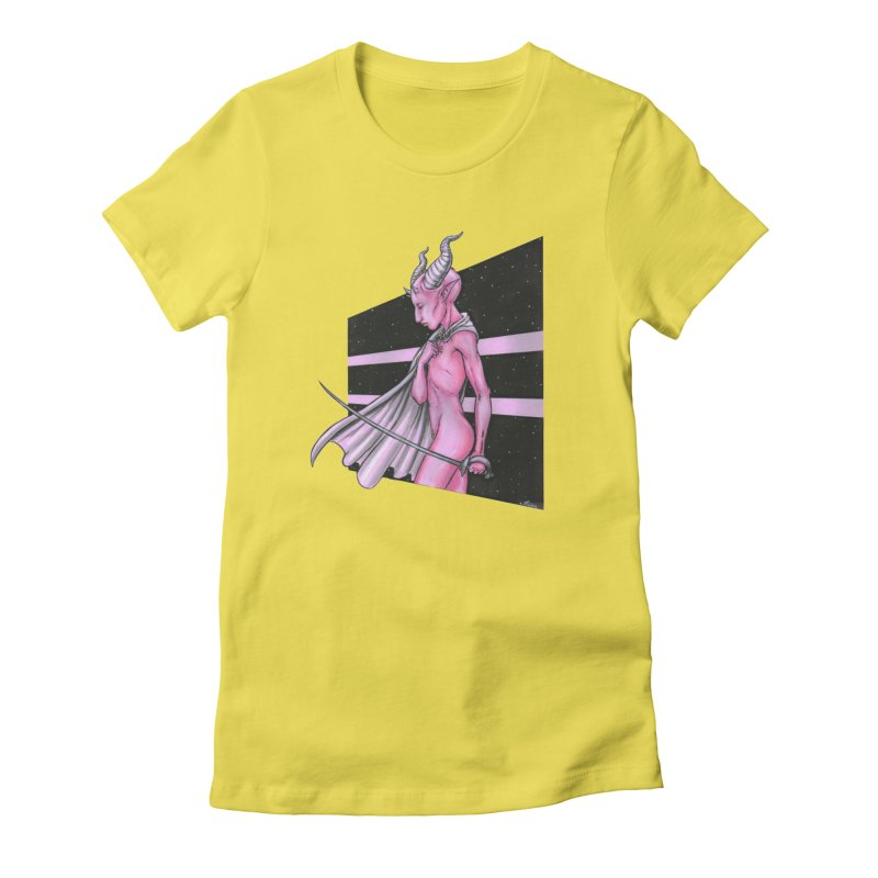 Pink Alien 1 Women's T-Shirt by Natalie McKean