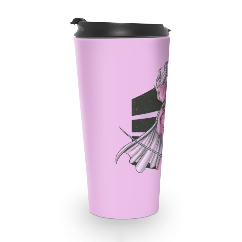 Pink Alien 1 Accessories Travel Mug by Natalie McKean