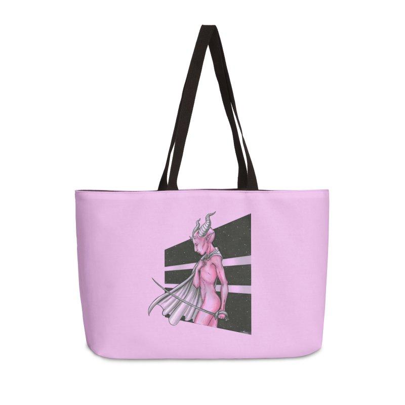 Pink Alien 1 Accessories Bag by Natalie McKean