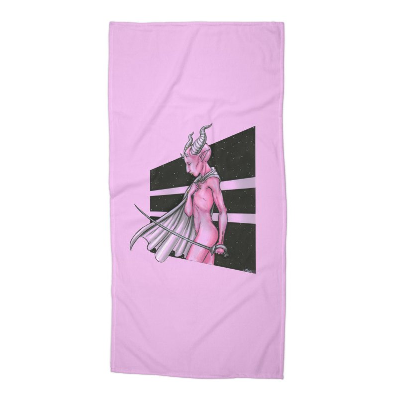 Pink Alien 1 Accessories Beach Towel by Natalie McKean