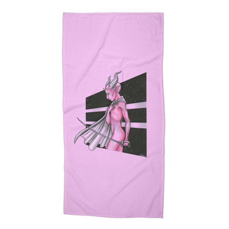 Pink Alien 1 Accessories Beach Towel by Natalie McKean