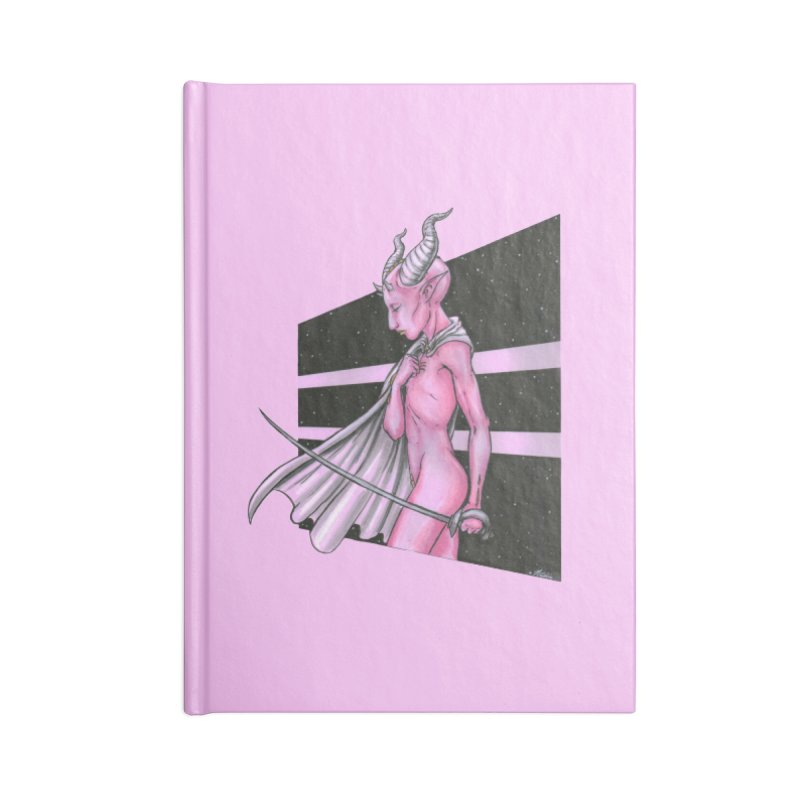 Pink Alien 1 Accessories Notebook by Natalie McKean